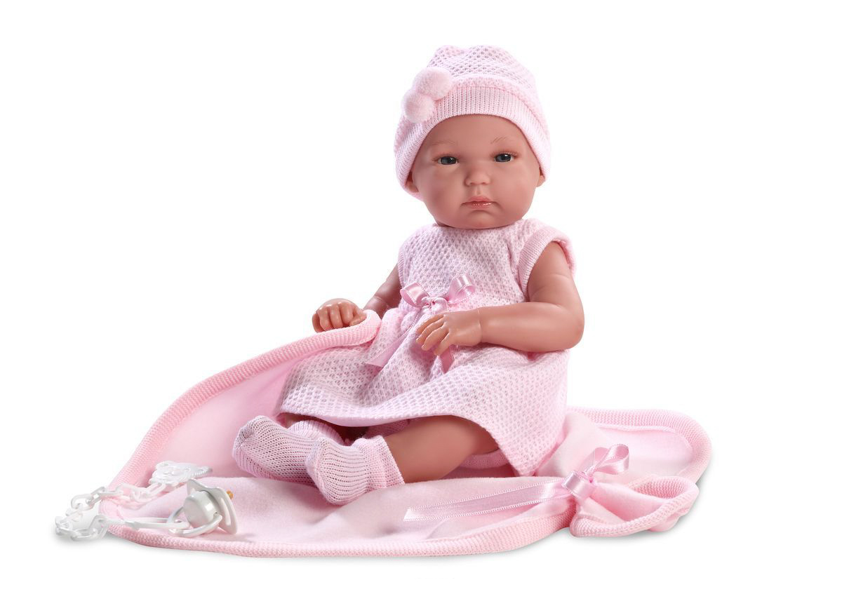 Кукла Бимба с одеялом, 35 смИспанские куклы Llorens Juan, S.L.<br>Кукла Бимба с одеялом, 35 см<br>
