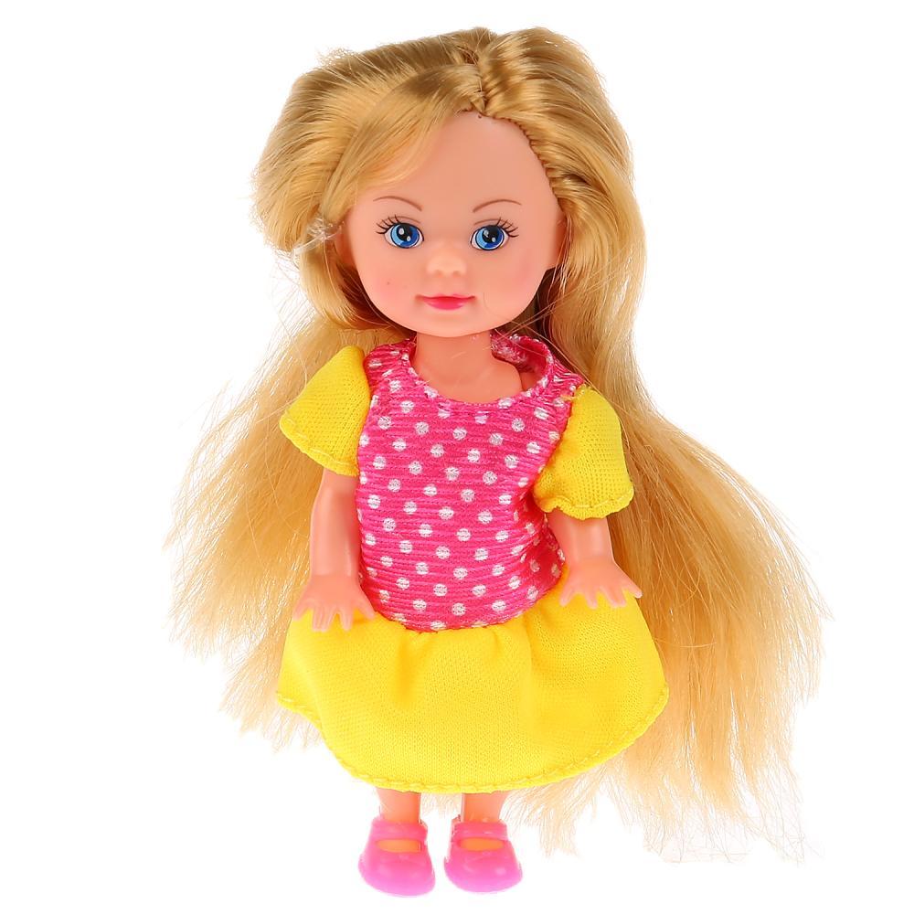 Купить Кукла - Машенька, 12 см, в комплекте зимняя одежда, Карапуз