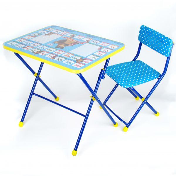 Набор детской мебели - Азбука 2 из серии Маша и Медведь, цвет синий