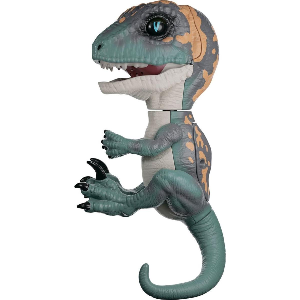 Купить Интерактивный динозавр Fingerlings Фури, цвет - темно-зеленый с бежевым, 12 см., WowWee