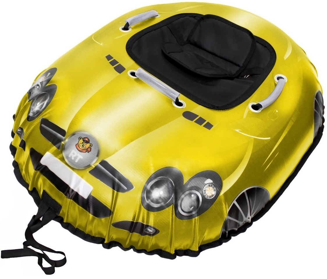 Санки надувные Тюбинг Snow auto SLR MClaren, цвет желтыйВатрушки и ледянки<br>Санки надувные Тюбинг Snow auto SLR MClaren, цвет желтый<br>