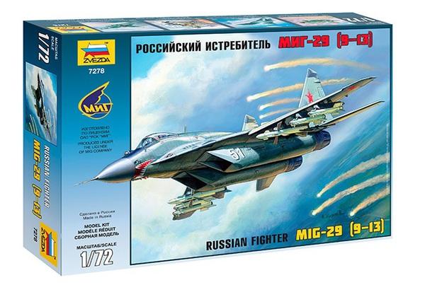 Модель сборная - Российский истребитель МиГ-29Модели самолетов для склеивания<br>Модель сборная - Российский истребитель МиГ-29<br>