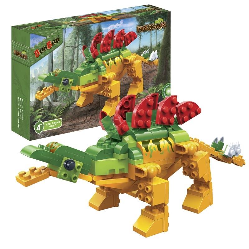Конструктор Динозавр, 128 деталейКонструкторы BANBAO<br>Конструктор Динозавр, 128 деталей<br>