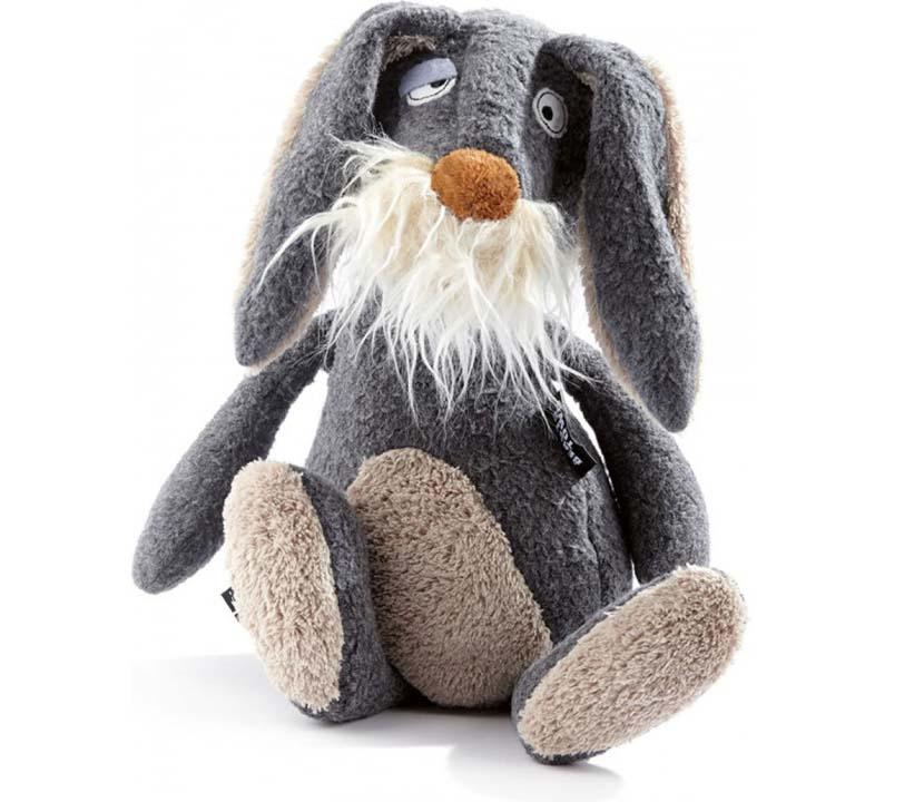 Мягкая игрушка - Серый заяц