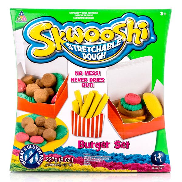 Купить Набор для творчества Skwooshi – Бургер - масса для лепки и аксессуары