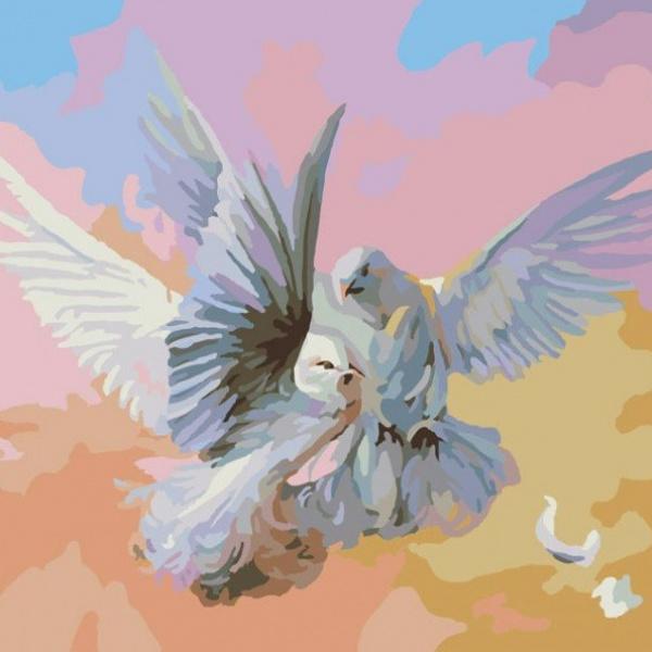 Раскраски по номерам - Картина «Полет белых голубей», 40 х 50 см.Раскраски по номерам Schipper<br>Раскраски по номерам - Картина «Полет белых голубей», 40 х 50 см.<br>