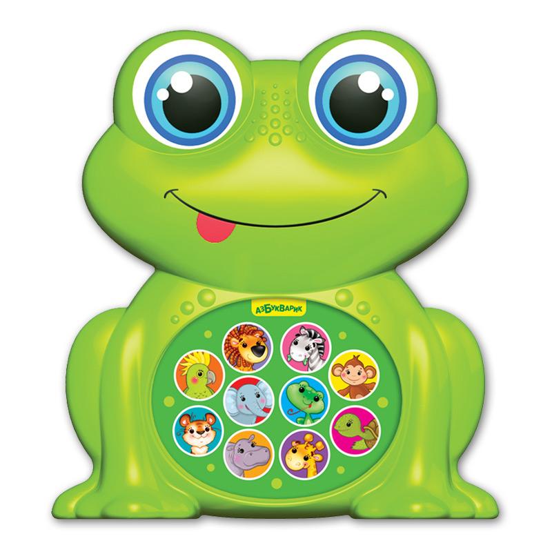 Купить Музыкальная игрушка из серии Зверята-малышата - Лягушонок, Азбукварик