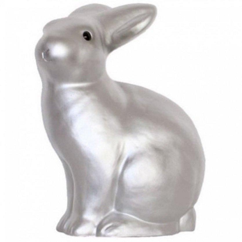 Ночник – Кролик, серебряный, 25 см