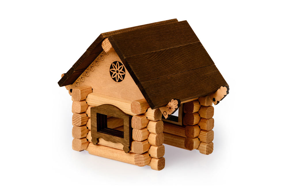 Купить Деревянный конструктор – Изба, Томик
