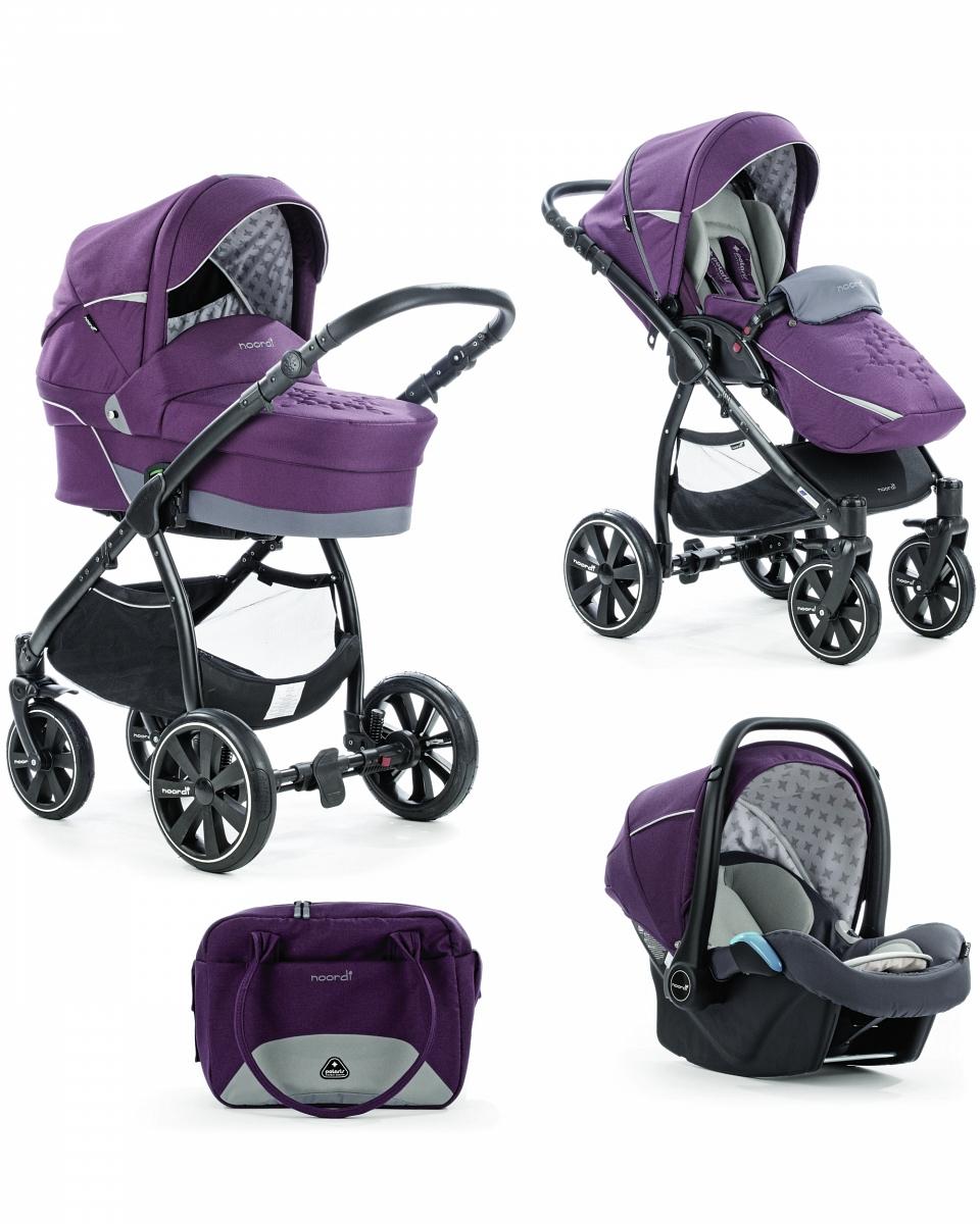 Коляска детская Noordi Polaris Comfort 3/1, Italian PlumДетские коляски 3 в 1<br>Коляска детская Noordi Polaris Comfort 3/1, Italian Plum<br>