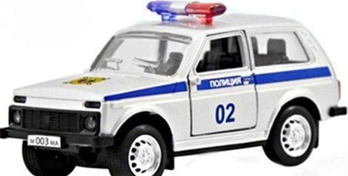Купить Инерционная металлическая машинка Полиция, 12 х 5, 7 х 6, 8 см., Play Smart
