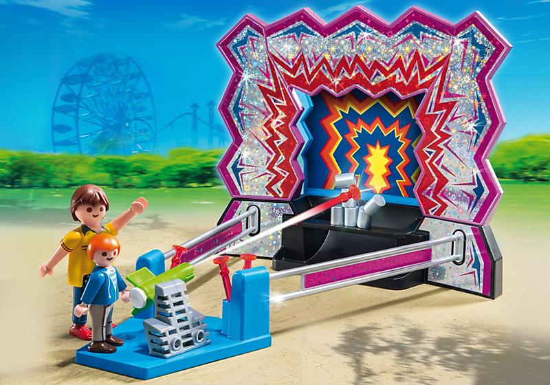 Игровой набор из серии «Парк развлечений» - Аттракцион «Сбей банки»Веселые каникулы<br>Игровой набор из серии «Парк развлечений» - Аттракцион «Сбей банки»<br>