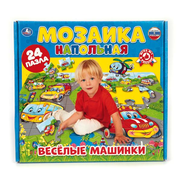 Напольная мозаика – Веселые машинкиКоврики-пазлы<br>Напольная мозаика – Веселые машинки<br>