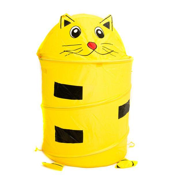 Корзина для игрушек - Кот, ткань пвх, размер 35 х 40 см.