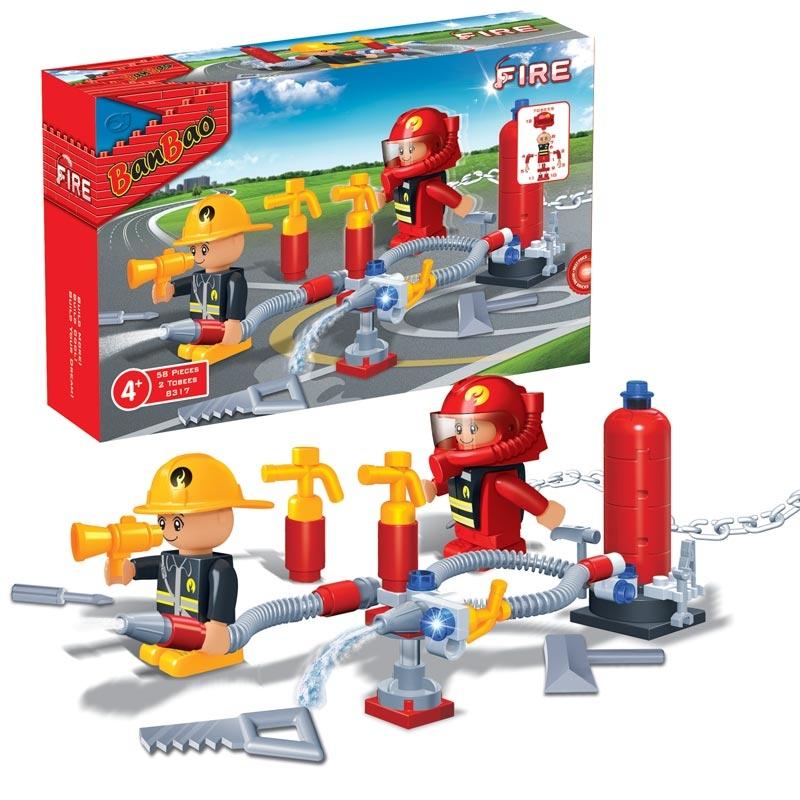 Купить Конструктор Пожарная дружина, 58 деталей, BanBao