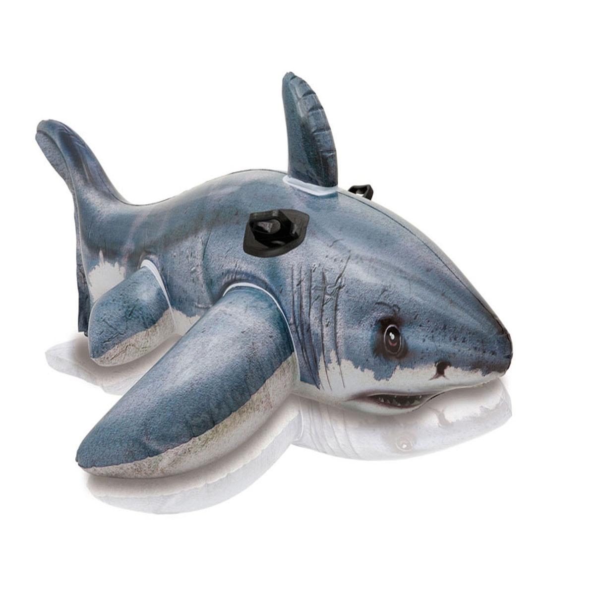 Большая надувная белая акула - Детские надувные игрушки и бассейны, артикул: 96963