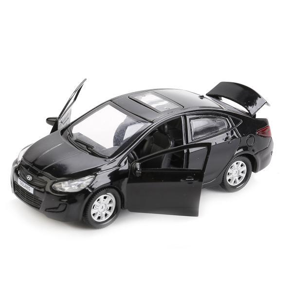 Купить со скидкой Машина металлическая Hyundai Solaris 12 см, открываются двери и багажник, инерционная