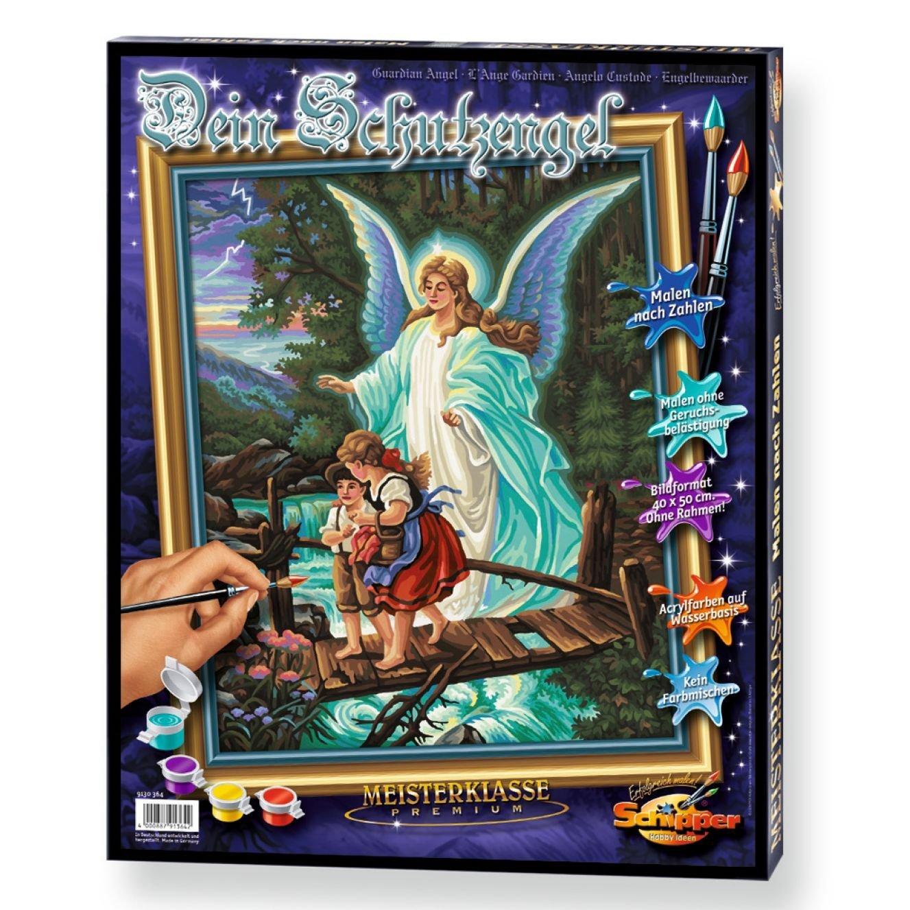 Купить Раскраска по номерам - Ангел, 40 х 50 см, Schipper