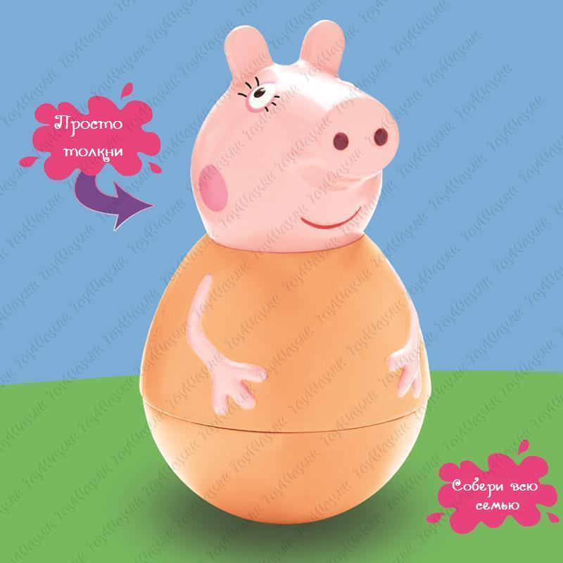 Фигурка-неваляшка Weebles «Мама Пеппы» тм Peppa Pig