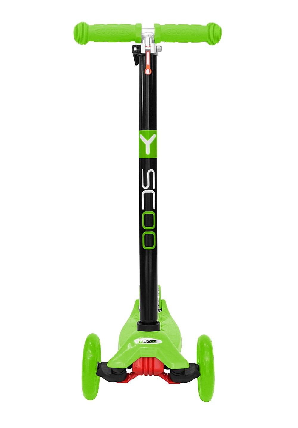Четырехколесный самокат со светящимися колесами Maxi Simple A20 green Y-Scoo, 4529RT