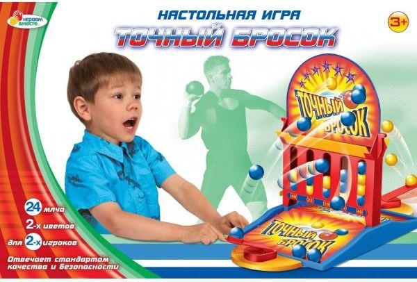 картинка Детская настольная игра «Точный бросок» от магазина Bebikam.ru
