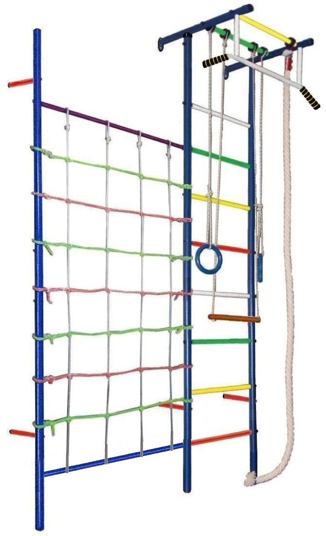 Купить Детский спортивный комплекс Юнга 4.1, цветные перекладины, Вертикаль