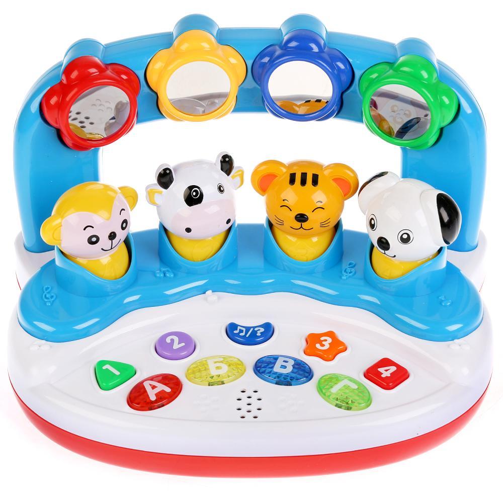 Купить Обучающая игрушка со стихами М.Дружининой - Учим животных, формы, буквы, цифры, 16 песен, Умка