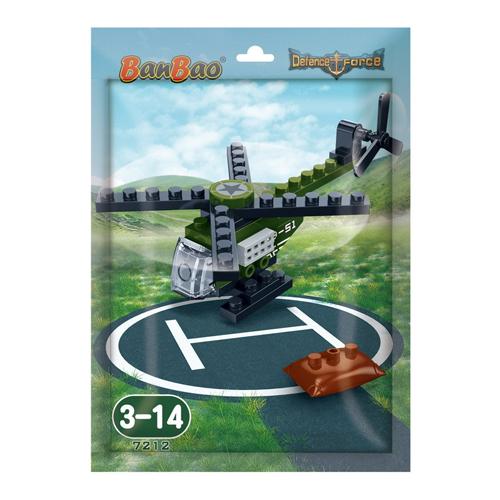 Конструктор - Военный вертолет в пакетике, 29 деталейКонструкторы BANBAO<br>Конструктор - Военный вертолет в пакетике, 29 деталей<br>
