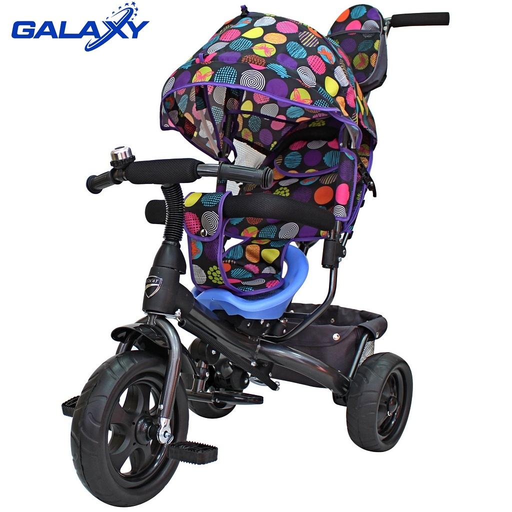 3-х колесный велосипед Galaxy - Лучик Vivat, дизайн кругиВелосипеды детские<br>3-х колесный велосипед Galaxy - Лучик Vivat, дизайн круги<br>