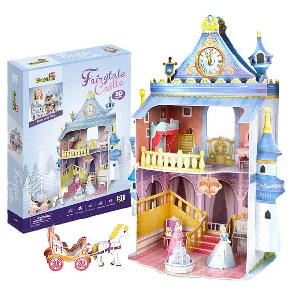 Купить 3D пазл из пенокартона – Замок принцессы, 81 деталь, Cubic Fun
