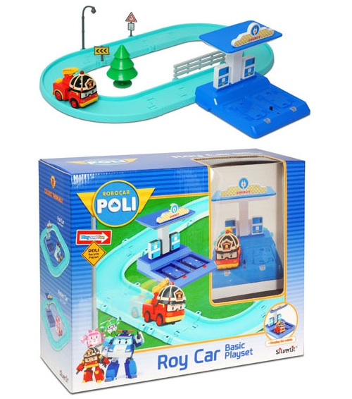 Игровой набор Silverlit - Трек с умной машинкой РойRobocar Poli. Робокар Поли и его друзья<br>Игровой набор Silverlit - Трек с умной машинкой Рой<br>