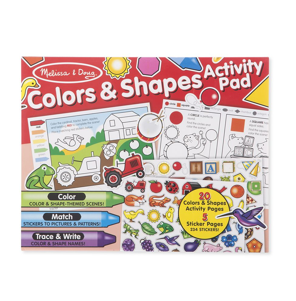 Купить Набор для творчества - Набор стикеров - Цвет и формы, Melissa&Doug