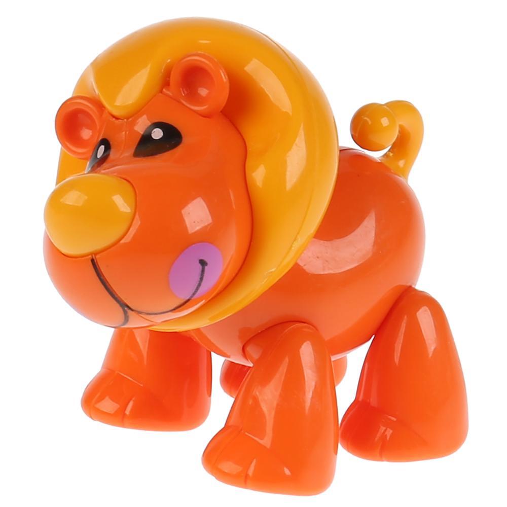 Развивающая крутилка Лев, оранжевый цвет фото
