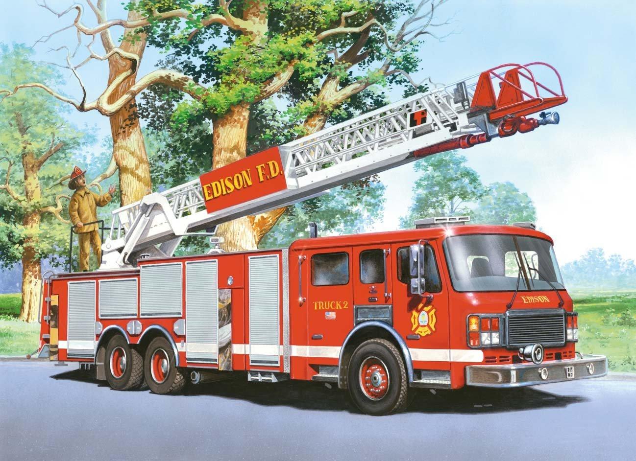 Пазл Castorland 60 деталей Пожарная команда MIDIПазлы<br>Пазл Castorland 60 деталей Пожарная команда MIDI<br>