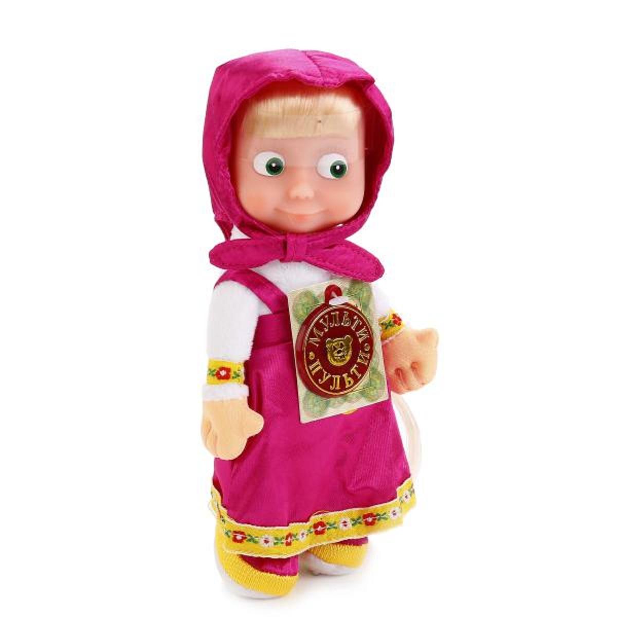 Купить Мягкая игрушка Маша и Медведь – Маша, 22 см, Мульти-Пульти