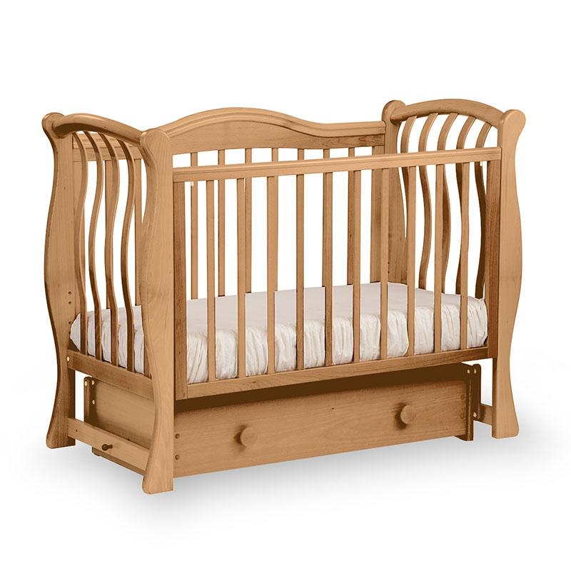 Кровать детская Лель БИ 08.2 Маргаритка маятник поперечный, натуральный