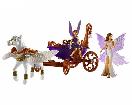 Игровой набор – Лошадка с каретой и двумя фигурками фей, со световыми эффектами - Куклы и пупсы, артикул: 97157