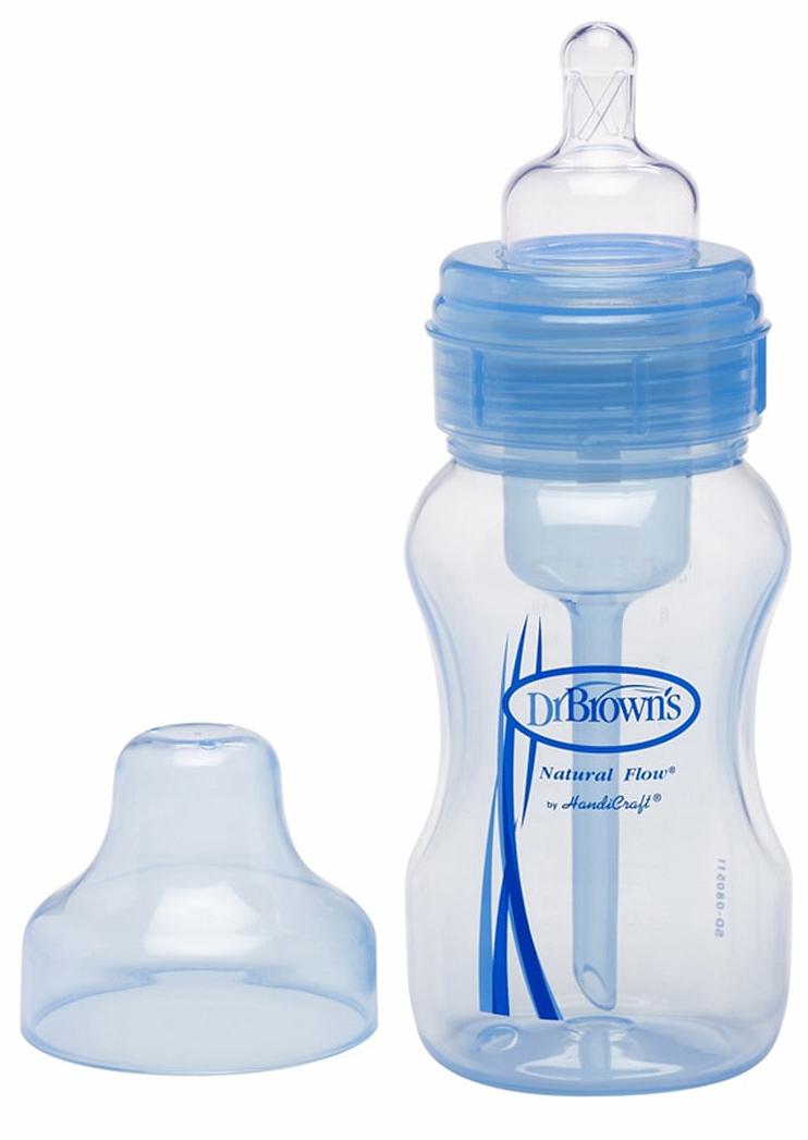 Бутылочка противоколиковая с широким горлышком, 270 млТовары для кормления<br>Бутылочка противоколиковая с широким горлышком, 270 мл<br>