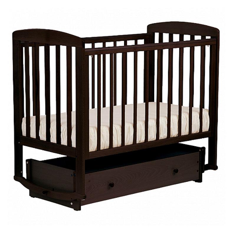 Кроватка детская Лель АБ 16.4 Ромашка универсальный маятник, махагон