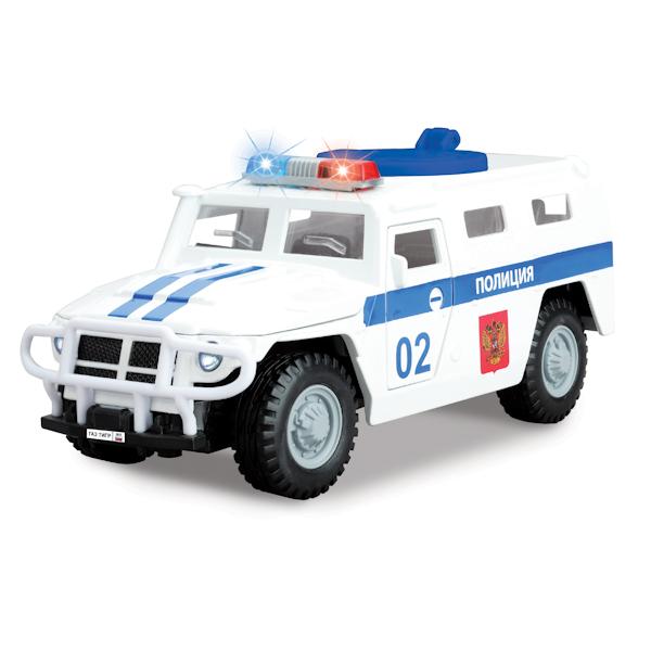 Инерционная машина ГАЗ Тигр - Полиция, свет, звукПолицейские машины<br>Инерционная машина ГАЗ Тигр - Полиция, свет, звук<br>