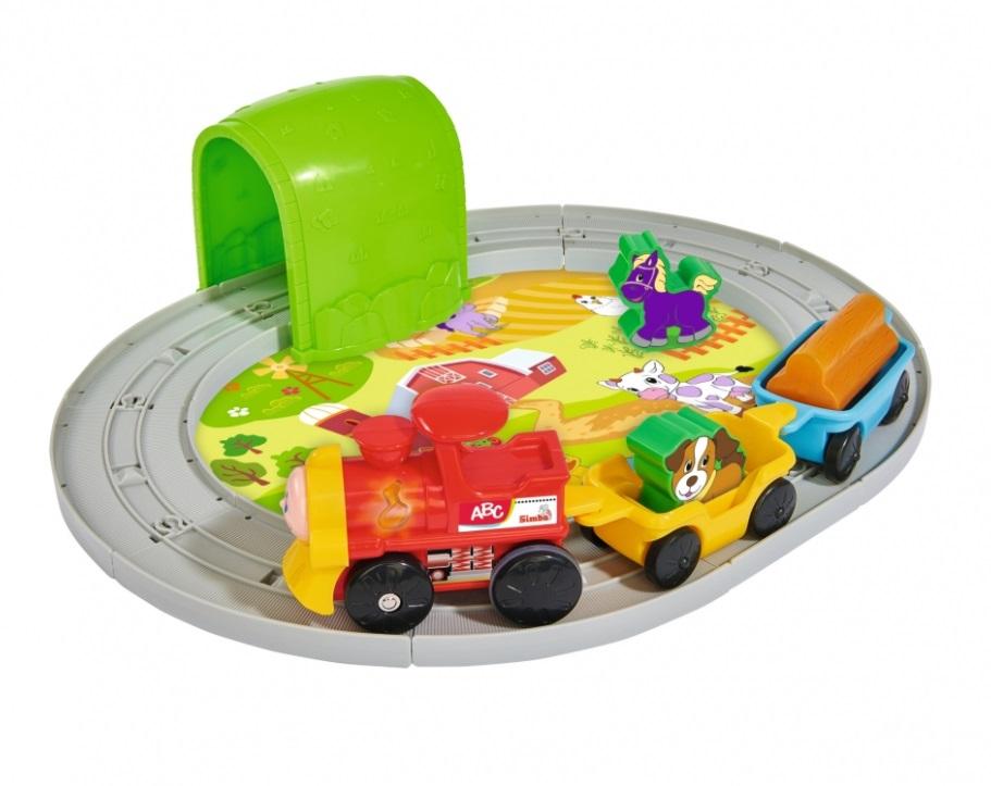 Набор развивающий - Железная дорога, звук, 30 смРазвивающие игрушки Simba Baby<br>Набор развивающий - Железная дорога, звук, 30 см<br>