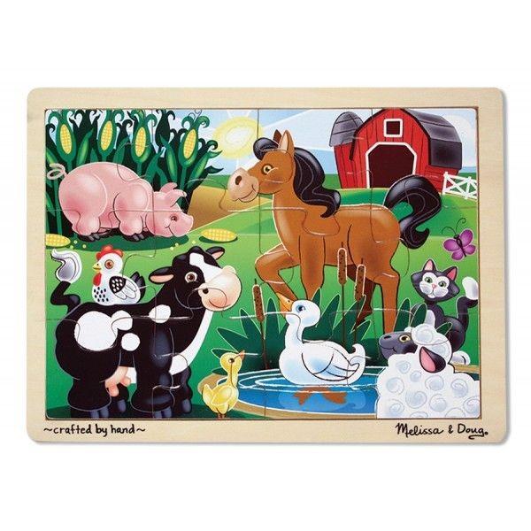Мои первые пазлы - На ферме, 12 элементовПазлы для малышей<br>Мои первые пазлы - На ферме, 12 элементов<br>