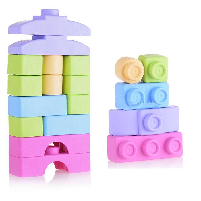 Купить Конструктор мягкий для малышей – Пастель, 14 деталей, в пакете, Биплант