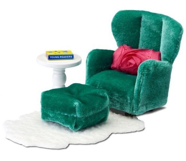 Кукольная мебель Смоланд - Кресло с пуфикомКукольные домики<br>Кукольная мебель Смоланд - Кресло с пуфиком<br>