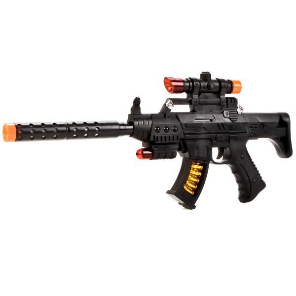 Автомат со световыми и звуковыми эффектамиАвтоматы, пистолеты, бластеры<br>Автомат со световыми и звуковыми эффектами<br>
