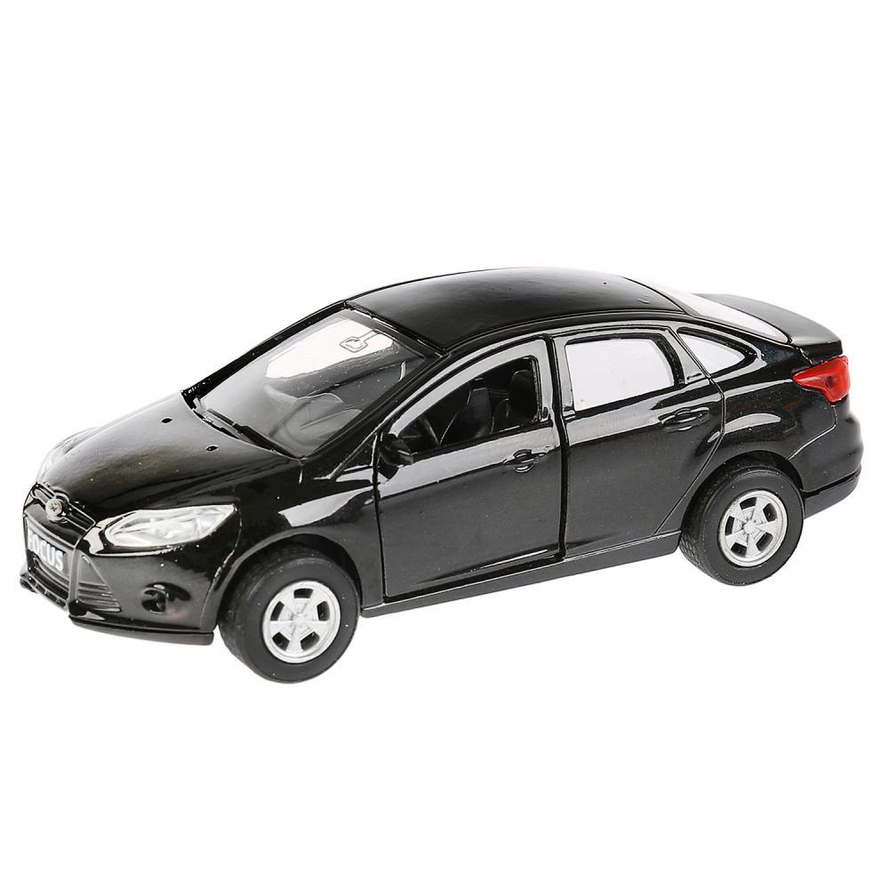 Купить Машина металлическая Ford Focus 12 см, инерционная, открываются двери и багажник, цвет черный -WB), Технопарк