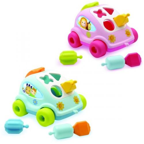 Развивающий автомобиль с фигуркамиРазвивающие игрушки Smoby Cotoons<br>Развивающий автомобиль с фигурками<br>