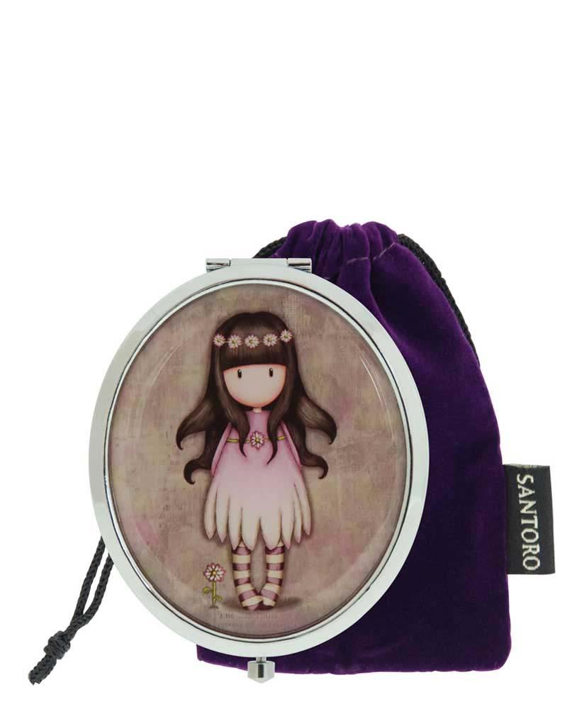 Овальное компактное зеркальце – Little FriendЮная модница, салон красоты<br>Овальное компактное зеркальце – Little Friend<br>