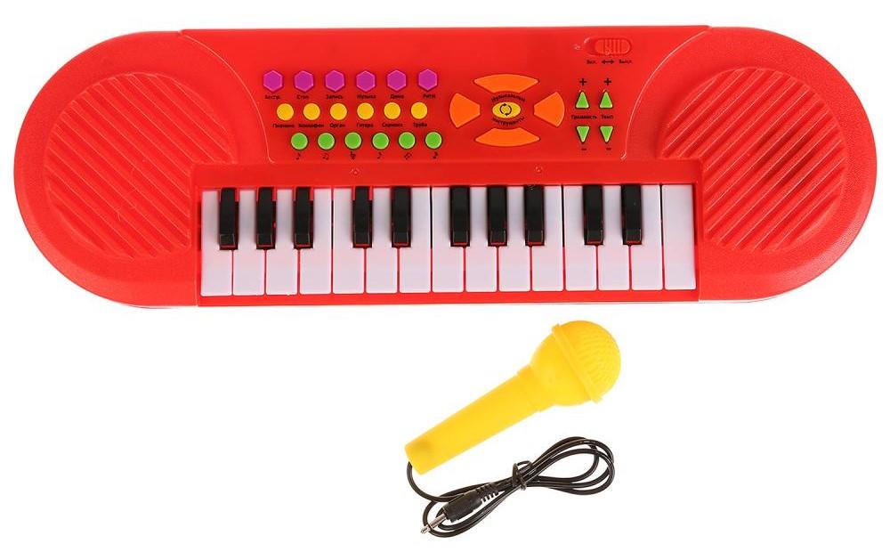 Купить Пианино – Любимые песни из мультфильмов. С микрофоном и функцией записи, Умка