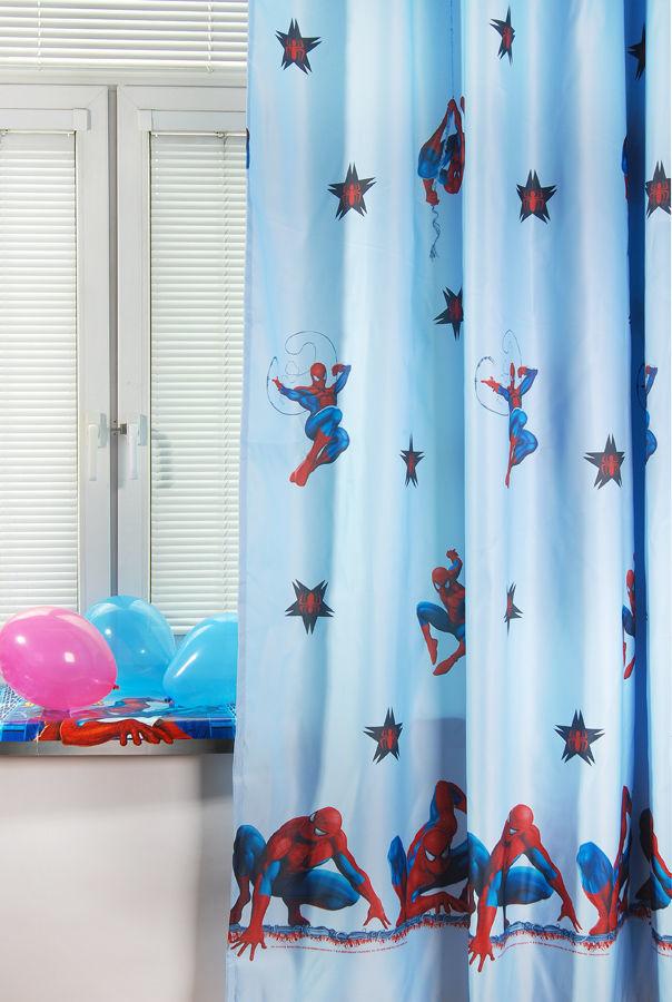 Портьера детская - Spider-Man, голубойДекор и хранение<br>Портьера детская - Spider-Man, голубой<br>